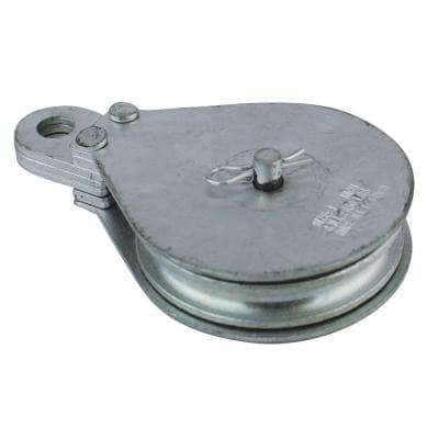 3.1 in. Zinc-Plated Rigid Eye Cable Block