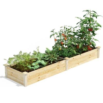 2 ft. x 8 ft. x 10.5 in. Original Pine Raised Garden Bed