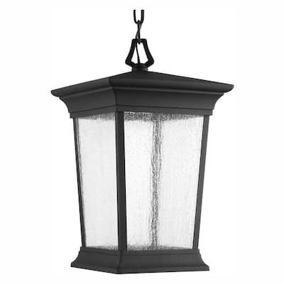 Arrive Collection 1-Light Outdoor Black Integrated LED Hanging Lantern