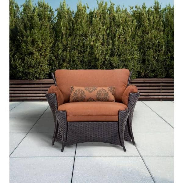 Hanover Strathmere Allure 2 Piece Patio, Outdoor Patio Set With Ottomans