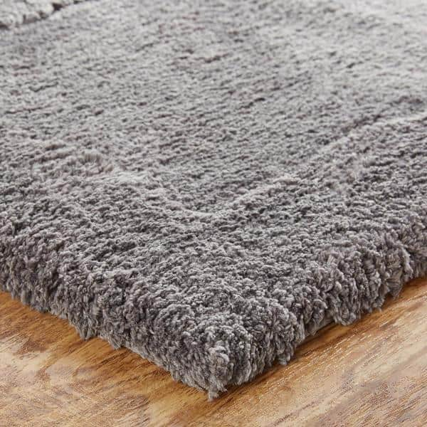 Mohawk Home Dynasty 30 In X 50 In Micro Denier Polyester Machine Washable Bath Mat In Pewter 079292 The Home Depot