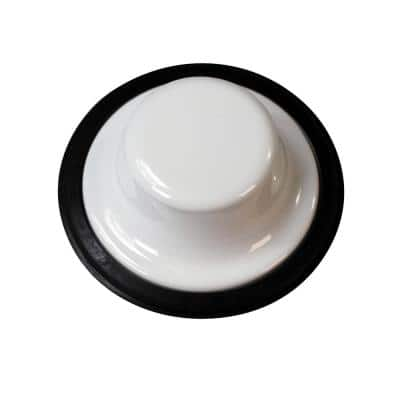 Garbage Disposal Stopper in Powder Coat White
