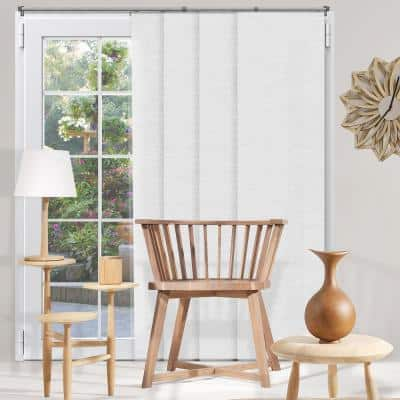 Panel Track Blinds Birch White Cordless Light Filtering Adjustable with 22 in. Slats up to 80 in. W x 96 in. L