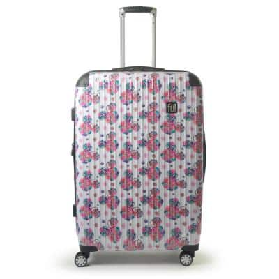 Disney Minnie Mouse Floral 21 in. White Printed Hard-Sided Rolling Luggage