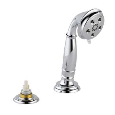 Cassidy 3-Spray 3 in. Single Tub Deck Mount with Transfer Valve Handheld Shower Head in Chrome