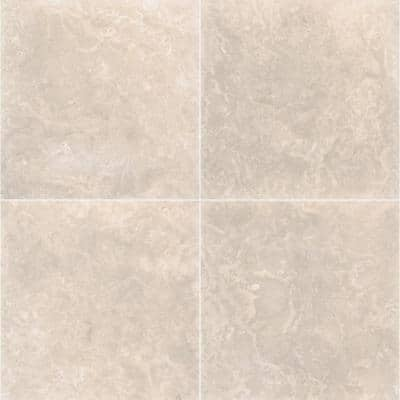 Platinum 18 in. x 18 in. Honed Travertine Floor and Wall Tile (9 sq. ft./Case)
