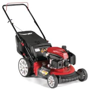 21 in. 159cc Check Don't Change Series Troy-Bilt Engine 3-in-1 Gas Walk Behind Push Lawn Mower with High Rear Wheels