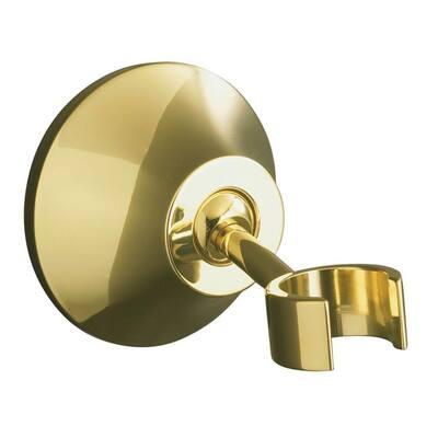 Forte Adjustable Wall Mount Bracket in Vibrant Polished Brass