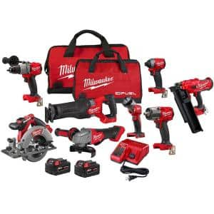 M18 FUEL 18-Volt Lithium-Ion Brushless Cordless Combo Kit (7-Tool) with Framing Nailer