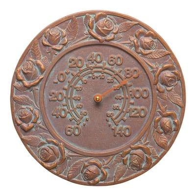 Verdigris Rose Thermometer