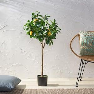 Dundas 4 ft. Green Artificial Lemon Tree