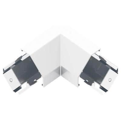 Adorne Under-Cabinet Modular Track Corner Connector, White