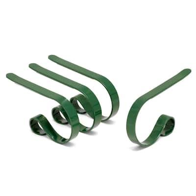 Original MantleClip Hunter Green Stocking Holder (4-Pack)