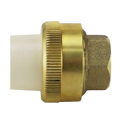 1/2 in. Brass Solvent Weld CPVC x 1/2 in. Solder Union
