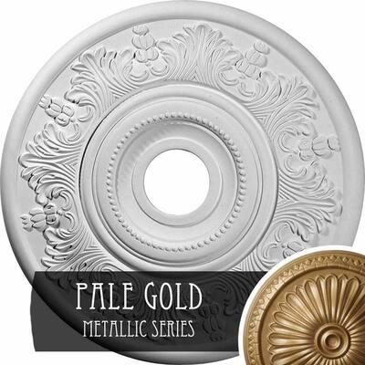 1-1/2 in. x 20 in. x 20 in. Polyurethane Vienna Ceiling Medallion, Pale Gold
