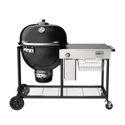 Summit Kamado S6 Charcoal Grill Center Grill in Black