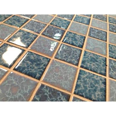 Monet Baby Blue 12 in. x 12 in. Glossy Ceramic Square Mosaic Wall Tile (221.76 sq. ft./Pallet)