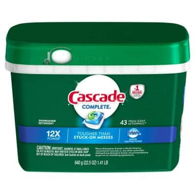 Complete ActionPacs Fresh Scent Dishwasher Detergent with Dawn (43-Count)
