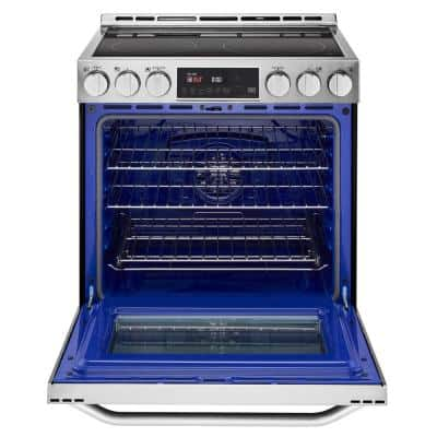 6.3 cu. ft. Smart Slide-In Electric Range with ProBake Convection Oven & Self-Clean in Stainless Steel