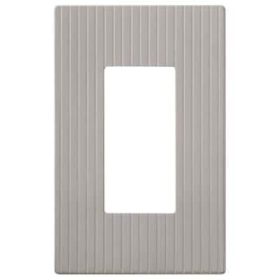 Mies 1 Gang Rocker Metal Wall Plate - Satin Nickel