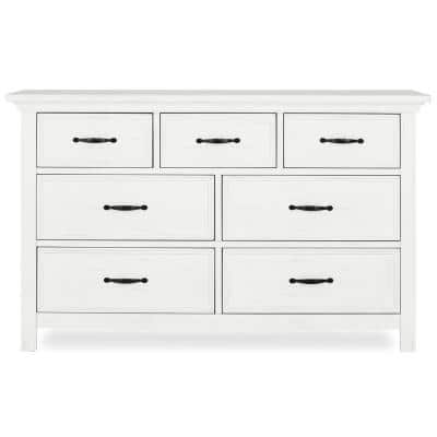 Belmar 7-Drawer Weathered White Dresser