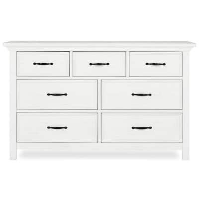 Belmar 7-Drawer Weathered White Dresser