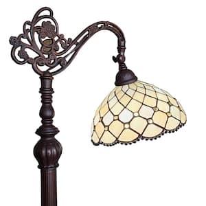 62 in. Tiffany Style Jewel Reading Floor Lamp