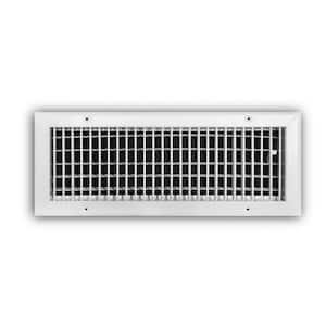 8 in. x 6 in. 1-Way Steel Adjustable Wall/Ceiling Register in White