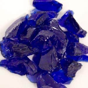 20 lbs. Recycled Fire Pit Fire Glass in Cobalt Blue