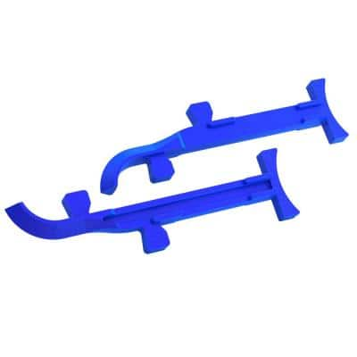 4 in. to 6 in. Cast Aluminum Mason Line Stretchers (Pair)