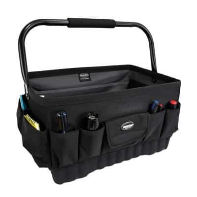 Pro Box 18 in. Open Top Tool Tote Storage Bag with 21 Pockets
