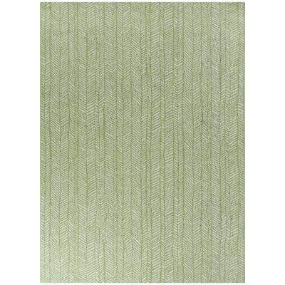 Yates Green 8 ft. x 10 ft. Contemporary Indoor/Outdoor Area Rug