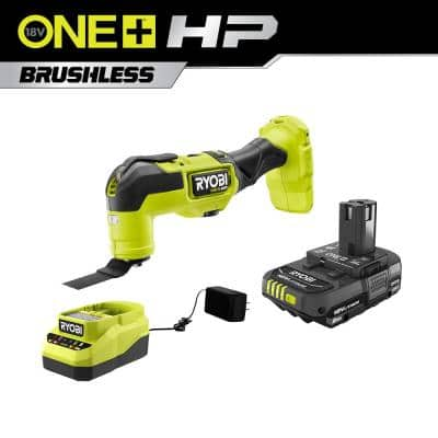 ONE+ HP 18V Brushless Cordless Multi-Tool with 2.0 Ah Battery and Charger