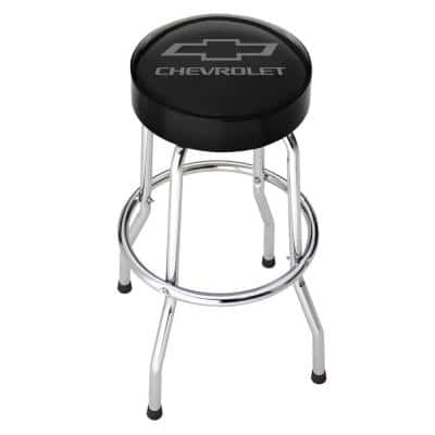 Chevrolet Grey Logo Garage Stool