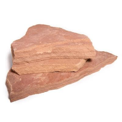 16 in. x 12 in. x 2 in. 120 sq. ft. Arizona Rosa Natural Flagstone for Landscape, Gardens and Pathways