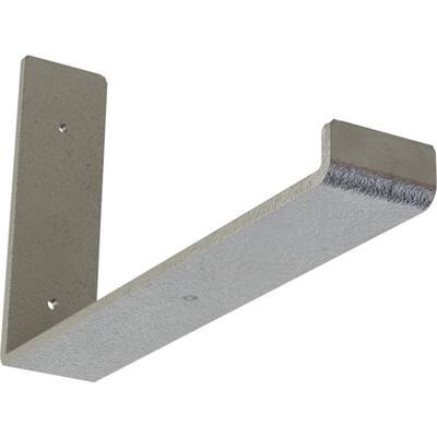 2 in. x 7 in. x 12 in. Hammered Silver Steel Hanging Shelf Bracket