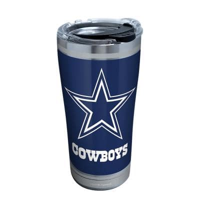 NFL Dallas Cowboys Touchdown 20 oz. Stainless Steel Tumbler with Lid