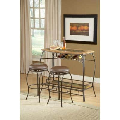 Brown Slate Back Counter Stool, Lakeview Furniture Collection