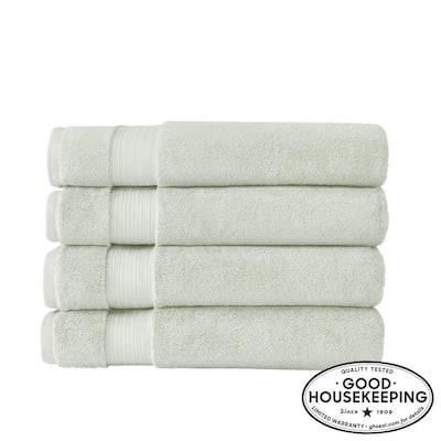 Egyptian Cotton Bath Sheet in Sage (Set of 4)