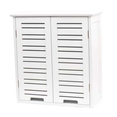 Miami 20.5 in. W Wall mount Bathroom Wall Cabinet in White