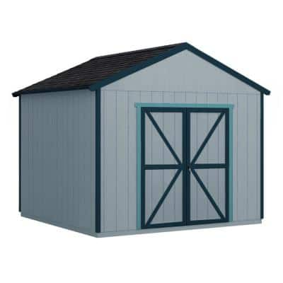 Installed Rookwood 10 ft. x 10 ft. Wooden Shed with Onyx Black Shingles