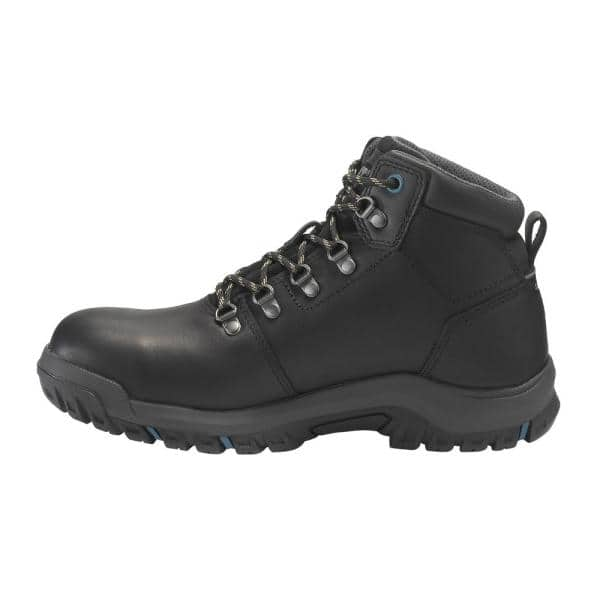 CAT Black Durable Leather Boots Size 5