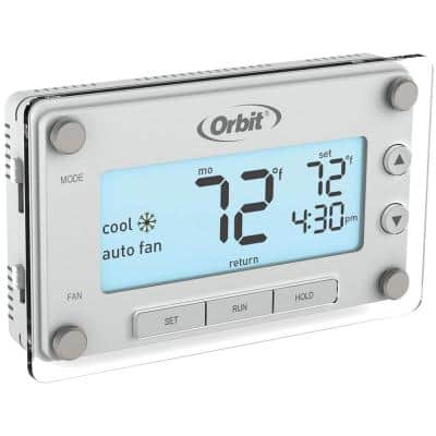 Clear Comfort Programmable Thermostat with Large, Easy-to-Read Display