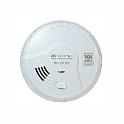 2-In-1 Smoke and Fire Alarm Detector Hardwired 10-Year Sealed Battery Backup Microprocessor Technology