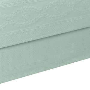 Williamsburg Abby Sage Solid Full Bed Skirt