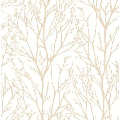 Autumn Copper Tree Paper Strippable Roll Wallpaper (Covers 56.4 sq. ft.)