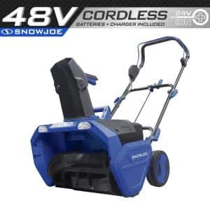 20 in. 48-Volt Cordless Electric Snow Blower Kit with 2 x 4.0 Ah Batteries Plus Charger