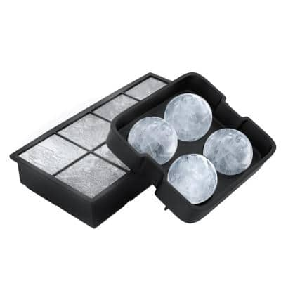 Silicone Slow Melting 0.75 Gal. Capacity Ice Cube Trays (2-Pack)
