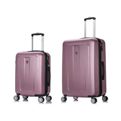 Crypto 20 in. & 28 in. Rose Gold Lightweight Hardside Set (2-Piece)