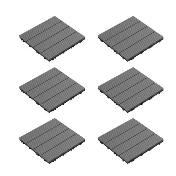 Pure Garden 12 In X Outdoor, Outdoor Interlocking Tiles For Patio